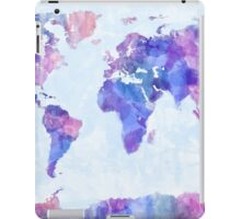 Map of the World Map Watercolor Painting iPad Case/Skin