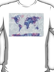 Map of the World Map Watercolor Painting T-Shirt