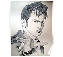 The Tenth Doctor Sketch Poster