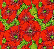 Poppy Floral Pattern by sale