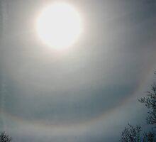 Solar halo 2  - 4/22/08 by Roslyn Lunetta