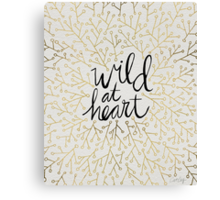 Wild at Heart – Gold Branches on White Canvas Print