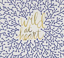 Wild at Heart – Navy & Gold by Cat Coquillette