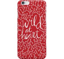 Wild at Heart – Red & White iPhone Case/Skin