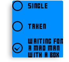 Mad Man with a Box - Dark Canvas Print