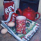 Red Breakfast  by Neale Sommersby