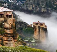 Varlaam & Roussanou monasteries - Meteora Sticker