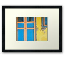 Colors on Doors & Windows, v.1 Framed Print