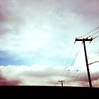 Sky and Telephone #2 by jhorsager