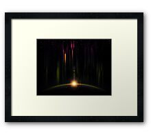 Abstract eclipse 2 Framed Print