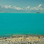 New Zealand Southern Alps and Lake Pukaki by Hugh Chaffey-Millar