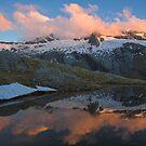 Tarn Reflections, Mt Aspiring NP, New Zealand by Hugh Chaffey-Millar