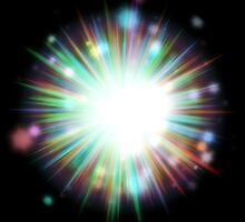 Abstract colorful exploding star 4 by AnnArtshock