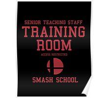 Smash School Training Room (Red) Poster