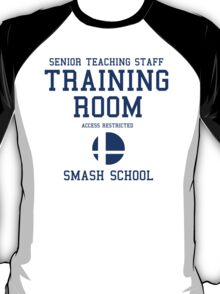 Smash School Training Room (Blue) T-Shirt