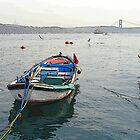 Rowboat in Bosphorus by nikib