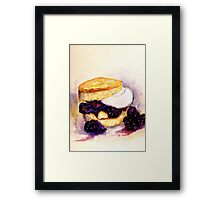 Delicious ..Scone with Berries and Cream Framed Print