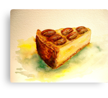 Delicious...A Slice of New York Cheesecake with Candied Pecans Canvas Print