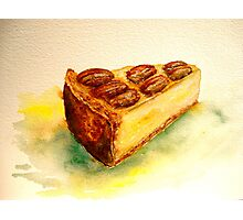 Delicious...A Slice of New York Cheesecake with Candied Pecans Photographic Print