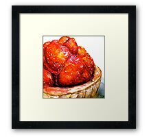 Delicious ..Strawberry Tart Framed Print