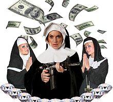Paris Hilton, Nicole Richie & Lindsay Lohan 'Bless You Bitch' Art by chasinglights