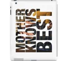 Mother Knows Best (Season One) iPad Case/Skin