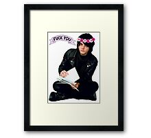 Gerard Way - Fuck You Flower Crowns  Framed Print