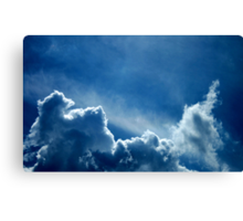 HEAVENLY BLUE CLOUDS Canvas Print