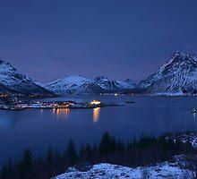 Austnesfjorden at Dusk by Kasia Nowak