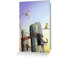 Yellow Finches Greeting Card