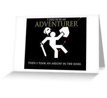 Adventurer with an arrow in the knew Greeting Card