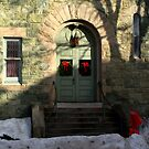 Church door decorated for Christmas. by Saulite2