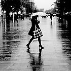 Rainy street, B&amp;W by maka1967
