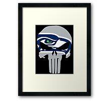 Seahawks Skull  Framed Print