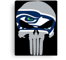 Seahawks Skull  Canvas Print