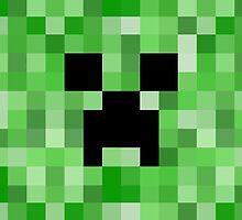 Creeper face - Minecraft by janeemanoo