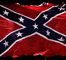 Rebel Confederate Flag Southern Cross  by Val  Brackenridge