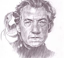 Sir Ian McKellen by Brad Gresham