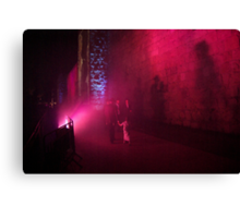 Audio visual show on the walls of Jerusalem Canvas Print
