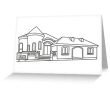 Model Home Greeting Card
