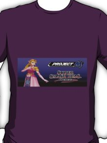 Zelda with Melee and Project M logos T-Shirt