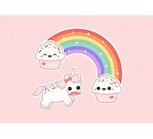Cute Cupcake Unicorn Photographic Print