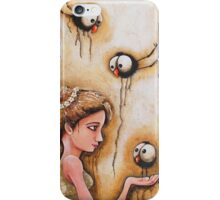 Feeding the crows iPhone Case/Skin
