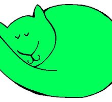 Green Cat by kwg2200