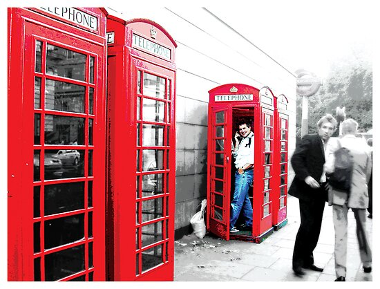 London phone boxes by Missy Miss