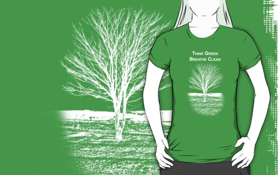 Tree Shirt (White Text/Image) by Scott Ruhs