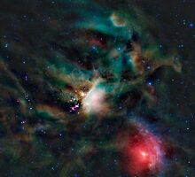 Infrared light veiw of Rho Ophiuchimolecular cloud complex (By NASA) by Adam Asar