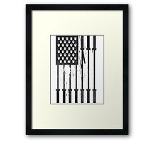 Barbell Flag V3 Framed Print