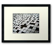 Crossword Framed Print