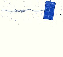Fantastic TARDIS (in blue) by LadyElizabeth